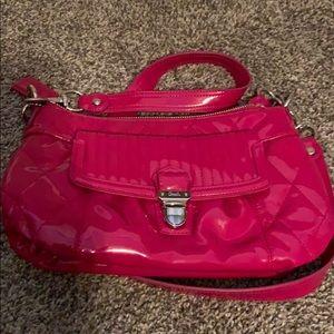 Coach Poppy patent leather handbag